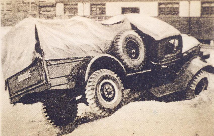 Articulated 4x4 prototype issued from Dodge WM 300