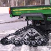 John Deere Gator rear fitted with Tatou tracks