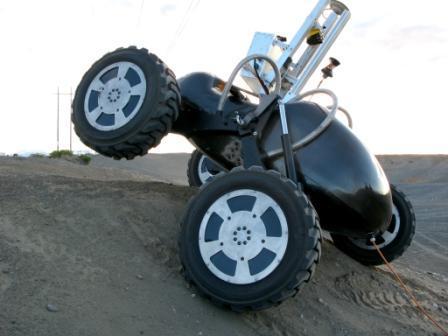 Scarab robot of NASA uphill