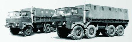 Ural-379 6x6 and Ural-395 8x8, 1972