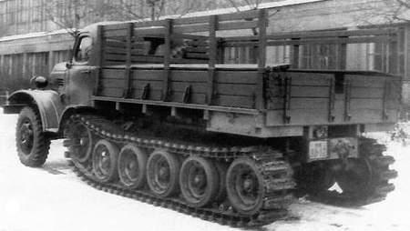 ZIS-153 half-track prototype of 1952.