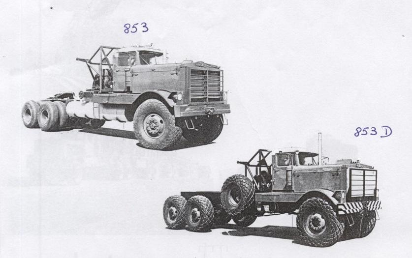 Kenworth 853 and 853D, 1949