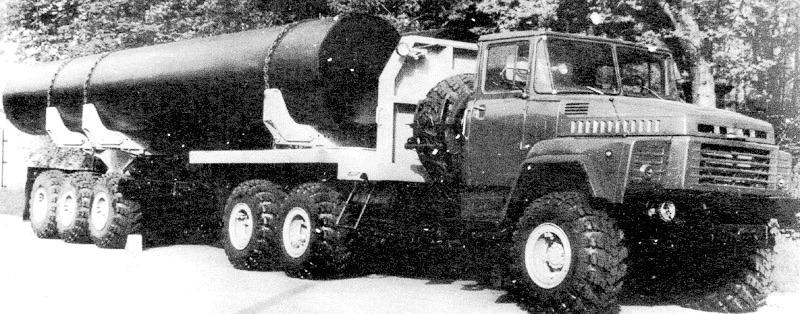KRAZ 260  6x6 tractor and semi-trailer