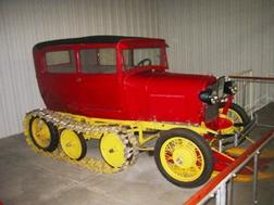 Model A snow vehicle at Pionneer Museum, Nebraska