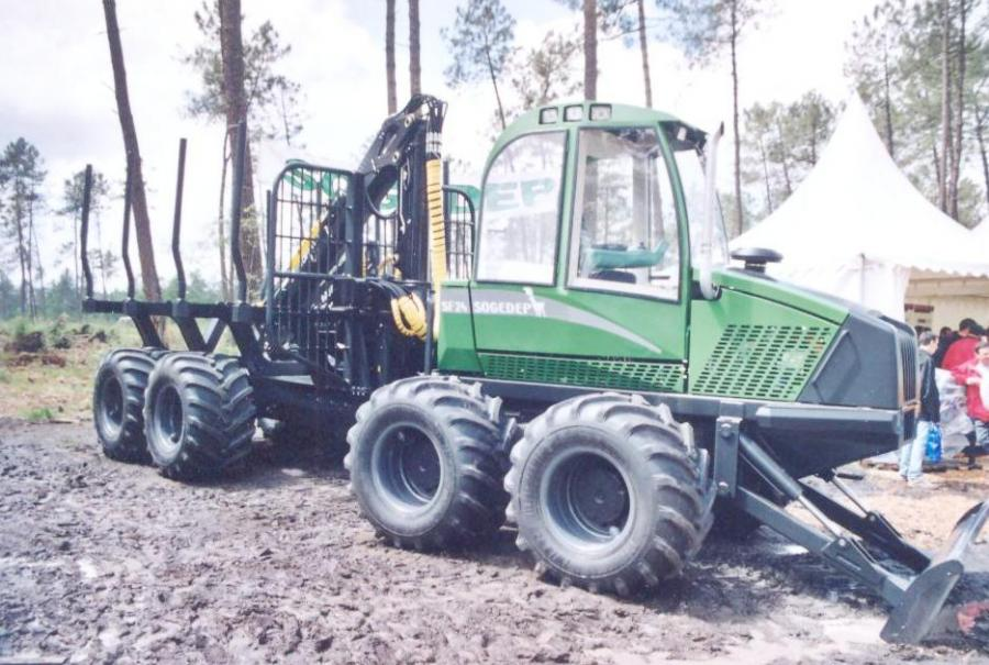 Sogedep SF 24 8x8 forwarder.