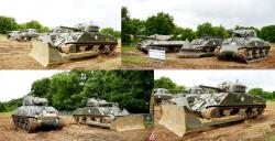 18 sherman a4 tanks and tank dozers wwii a