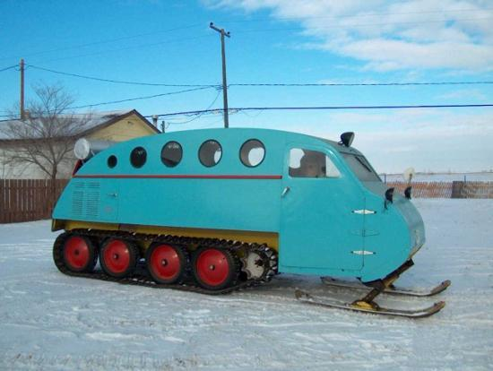J  A  Bombardier, travel on snow