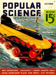 Amphibious vehicle on cover of popuplar science