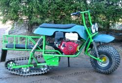 Ataman motoreks semi tracked motorcycle