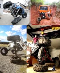 Cross axle suspensions for rock craling
