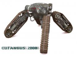 Cutangus tracked legged vehicle