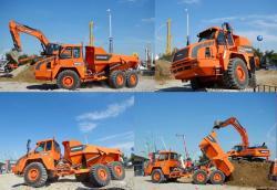 Doosan da30 articulated dump truck adt