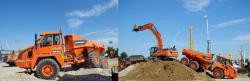 Doosan da30 articulated dump truck adt 2