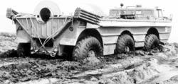 Experimental pse 1 amphibious vehicle