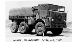 Gmc t51e1 carrier cross country 5 ton 6x6