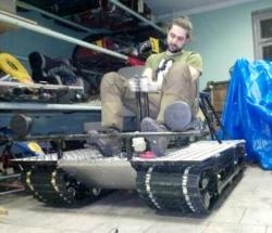 Homemade tracked vehicle