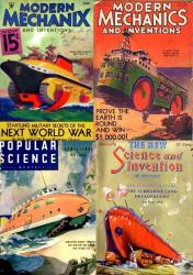 Land and amphibious vehicles designs of the 30s