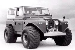 Land rover with terra tires