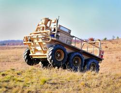 Lockheed martin amas 6x6 and tardec unmanned robot