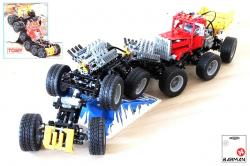 Mad masher monster truck 12x12 in lego