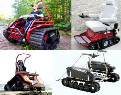 Offroad tracked wheelchairs