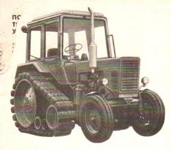 Pneumatic semi tracks on tractor