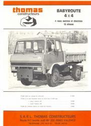 Renault modele babyroute thomas 4x4 diesel