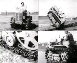 Roller track tractor of c g bonmartini in the 60s