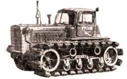 Ruslan tractor with pneumatic tracks