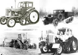 Russian semi tracked vehicles