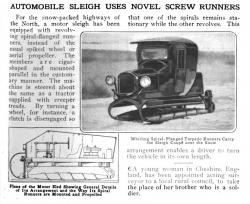 Screw vehicle motor sled 1918