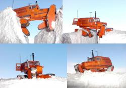 Sno cat on south pole route
