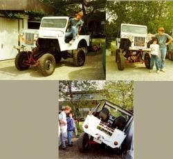 Street and mud jeep cj3 hydropneumatique