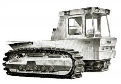 T330 tracked tractor prototype 1975