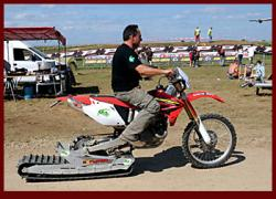 Tracked kit motorcycle