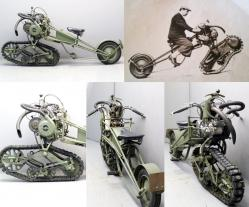 Tracked motocycle mercier 1937 350 cc