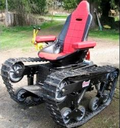 Tracked wheeled chair