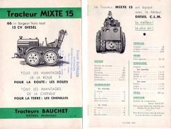Tracteur mixte bauchet