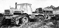 Traked k701 tractor with tracks