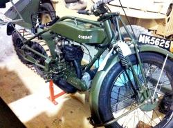 Triumph tracked motorcycle