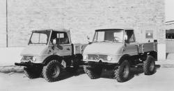 Unimog 421 122 U40 open cab and 421 123 closed cab, 1967