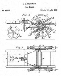 Us95032 meriman walking machine 1869