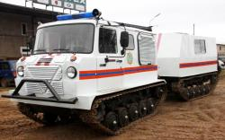 Uzhgur articulated tracked vehicle