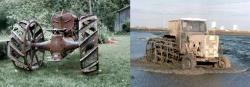 Wheel cage tractors