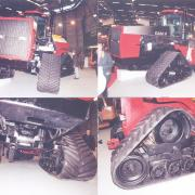 Four tracked Steiger Case IH