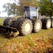 16x16 wheeled reed rotovator used for cutting reeds in wetlands