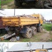 6x6 low ground pressure tired truck