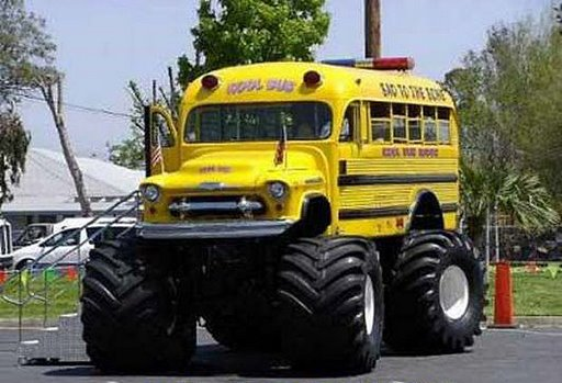 Bus with terra tires