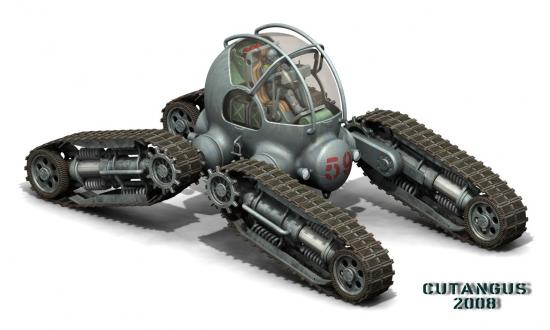 Four tracked all-terrain vehicle of Cutangus