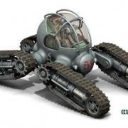 Four tracked all-terrain vehicle of Cutangus